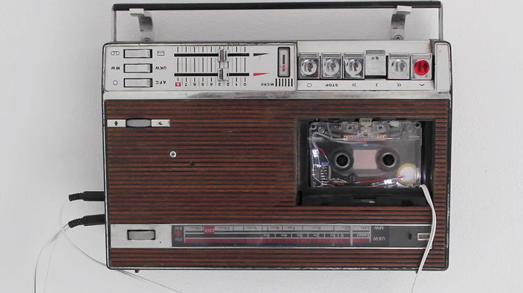 <p>There are 28 in all, each outfitted with a custom-made cassette tape outfitted with a lo-fi microphone.</p>