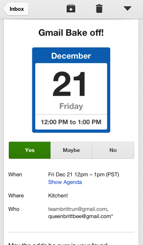 <p>Responding to GCal invites is handy, with new, big buttons that you'll find throughout the app.</p>