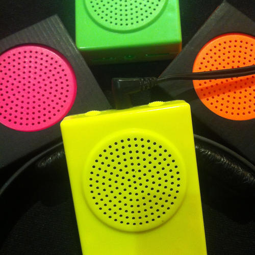<p>The latest edition, the Buddha4, plays 16-bit audio and is available in neon colors.</p>