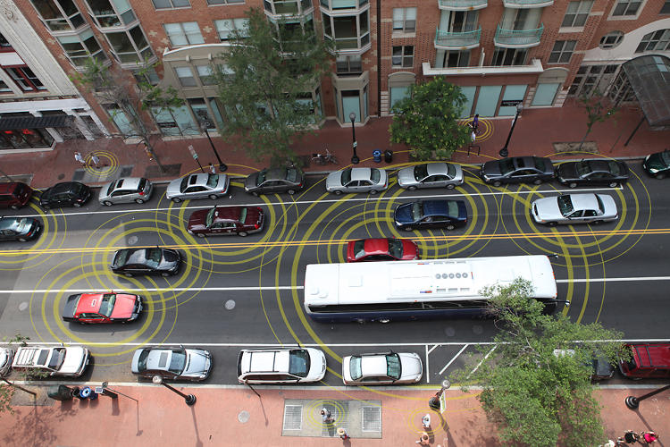 <p>The test includes buses, cars, and trucks.</p>
