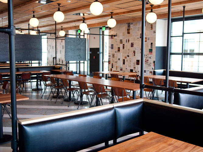 <p>Facebook's Epic Cafe is their Menlo Park eatery created with Roman &amp; Williams, who designed the Ace Hotel's buzzy New York location.</p>