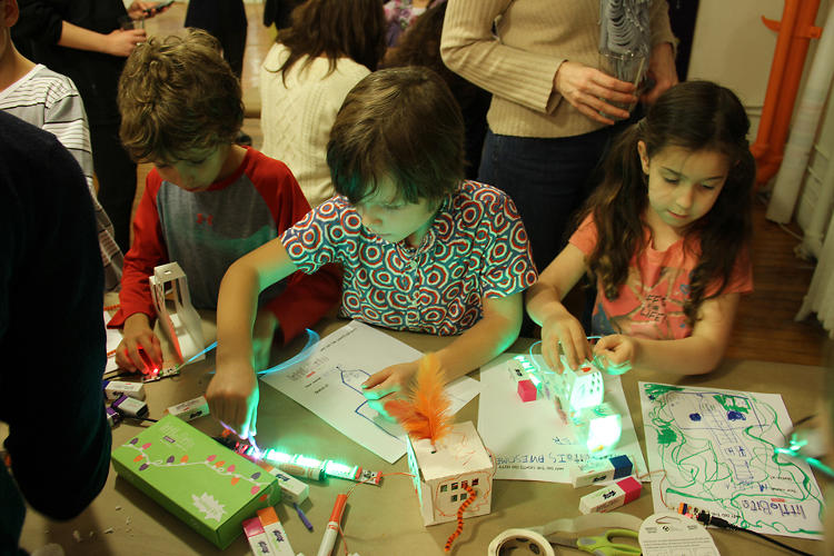 <p>After Hurricane Sandy, the company held a workshop in the Lower East Side where kids could come play with a LittleBit-wired model of Manhattan and learn how the storm knocked out the city's power stations.</p>