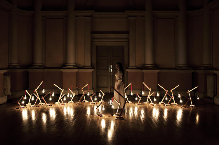 <p><em>Woods</em>, a light installation by the design duo Nocte, served as the illumination for <em>A Study of Who</em>, a recent dance performance that depicted the five stages of grief.</p>