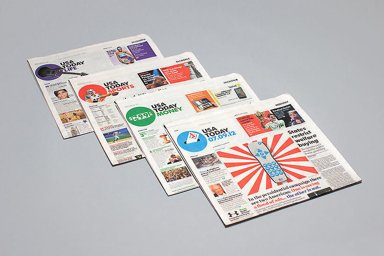 <p>As disruptive as <em>USA Today</em> was when it launched in 1982, it failed to evolve along with the Internet and its revenue has plummeted. Its redesign this year, by Wolff Olins, aimed to correct that course, with a dynamic dot that changes to reflect the news of the day, as well as references to web-only articles and QR codes for online video content. &quot;The brand's ever-changing new logo,&quot; <a href=&quot;http://www.fastcodesign.com/1670800/could-a-redesign-really-rescue-usa-today#1&quot; target=&quot;_self&quot;>Sarah Kessler writes</a>, attempts to make its static newspaper identity relevant to every day and every niche, like the Internet.&quot; <a href=&quot;http://www.colbertnation.com/the-colbert-report-videos/419185/september-18-2012/logo-makeover-for-usa-today&quot; target=&quot;_blank&quot;>Stephen Colbert sums up our opinion nicely.</a></p>