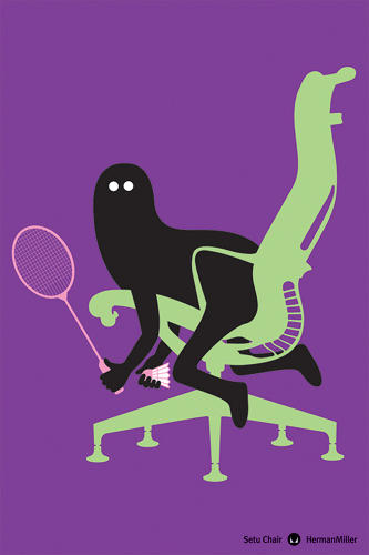 <p>French illustrator Genevieve Gauckler took on the Setu, managing to make a visual joke out of an all-business office chair.</p>