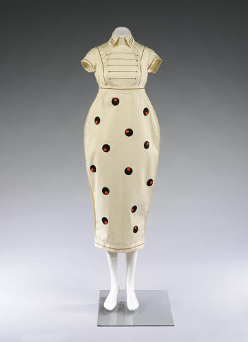 <p>A dress designed by Willy Brown in 1980, part of the upcoming <em>Club to Catwalk</em> exhibition at London's Victoria &amp; Albert Museum.</p>