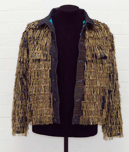 <p>One of the jackets, seen here, by the legendarily provocative Leigh Bowery.</p>