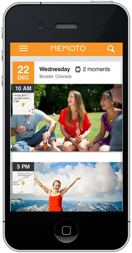 <p>It can sync with apps on the go if you'd like to pull a shot for Instagram or Memoto's own photo-sharing service.</p>