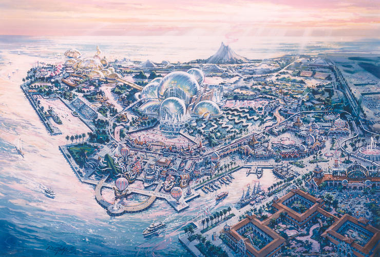 <p>A rendering of an entirely different kind of Happiest Place on Earth--Disney Sea.</p>
