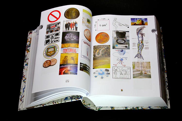 <p>The book has all the trappings of a fine dictionary--hard cover, bespoke marbled pages, and even the alphabetical tabs for quick navigating.</p>