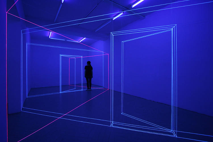 "<p>After the initial disorientation, visitors find themselves achieving next-level awareness in Choi's installations. ""Oftentimes they're are put in a meditative state, and feel very relaxed and at peace.""</p>"