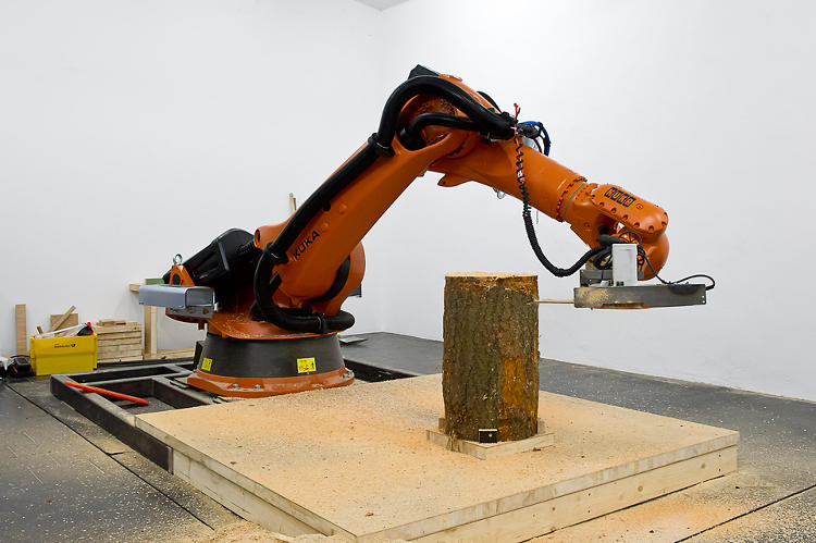 <p>The process itself takes about half an hour to complete, not because of the robot, but because of the robot's lousy stock chainsaw.</p>