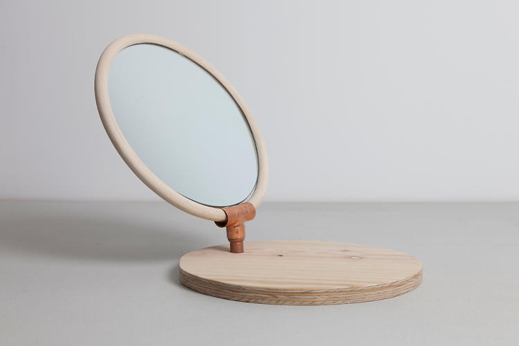<p>The Auster table mirror by llot llov.</p>