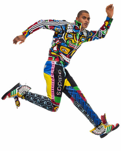 <p>The Spring 2013 Adidas x Jeremy Scott collection features designs based on totem poles of Pacific Northwest Native American groups.</p>