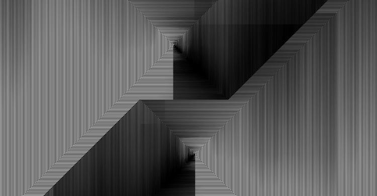 <p>For this particular collection of greyscale patterns, Ferriss used code written in the popular programming language Processing that employed two techniques: pixel sorting and cellular automata.</p>