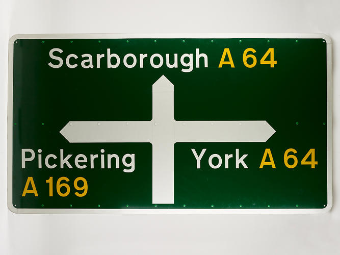 <p>There's also plenty of infrastructural design, like Jock Kinneir and Margaret Calvert's U.K. roadsigns from 1964.</p>