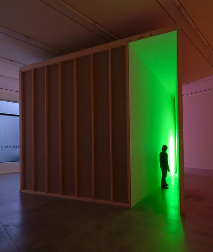 <p><em>Untitled (Helman Gallery Parallelogram)</em>, 1971, is a disorienting installation that some Nauman fans might be less familiar with.</p>
