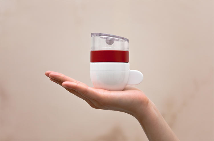 <p>In 30 seconds, it will turn your water and grounds into a very strong shot of coffee.</p>
