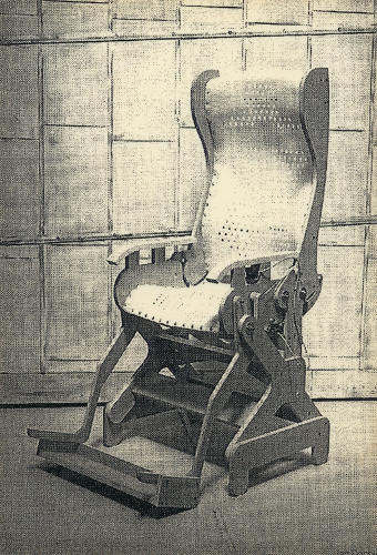 <p>A very early-stage mock-up of the reclining mechanism that undergirded the Sarah chair--and eventually, the Aeron.</p>