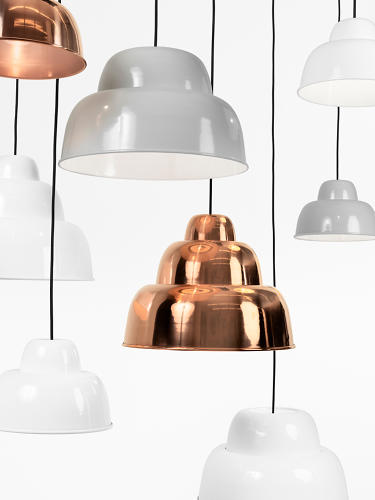 <p>The Levels lamp by Form Us With Love is made up of a series of nesting spun-metal shades.</p>