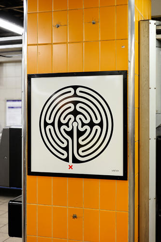 <p>Once they're up, each 2-foot-by-2-foot piece will be a permanent part of the station in which it's posted.</p>