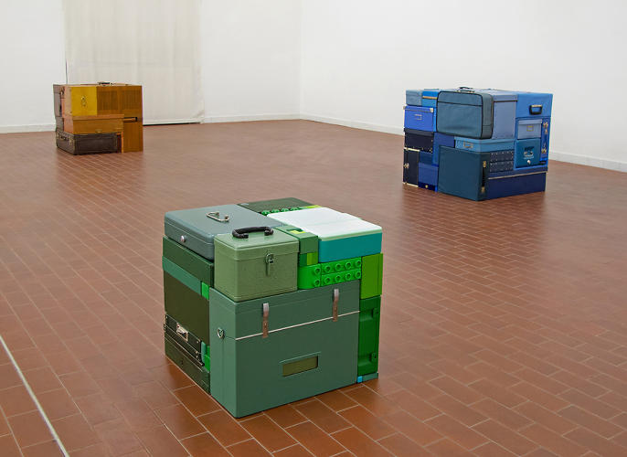 <p>Michael Johansson makes real-life sculptures constructed of secondhand objects that fit together like a perfect game of real-life Tetris.</p>