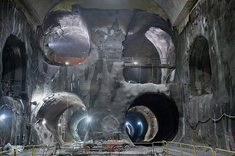 <p>There aren't scenes from a new Shia LeBouf-starring Indiana Jones sequel (thank goodness). They're photos of the tunnels currently under construction below New York City.</p>