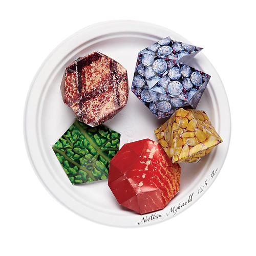 <p><strong>Postmodernist Cuisine</strong>, by Nathan Myhrvold<br /> As 3-D printing takes over, we'll no longer be limited to the shapes of yesteryear. That's right, friends, cauliflower shaped like a t-bone at last!</p>