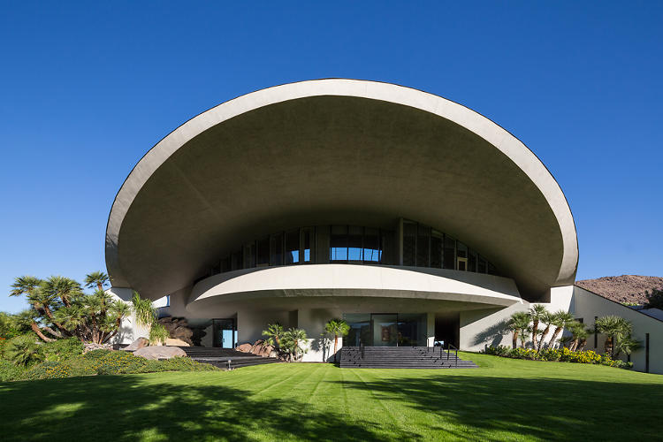 <p>A view of the copper-clad roof, which is arched to mimic the shape of a volcano.</p>
