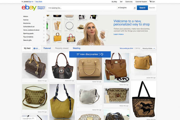 <p>Ebay's new Feed turns your homepage into an endlessly tiled board of discovery.</p>