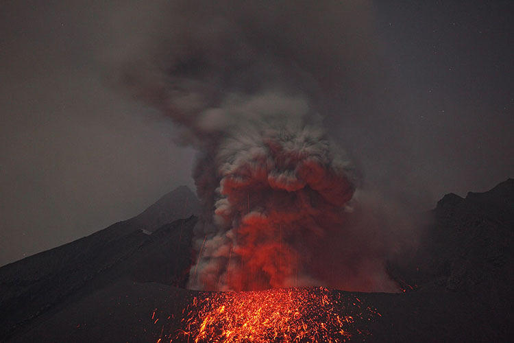 <p>The volcano was part of the Osumi Peninsula until 1914. Today, it's one of the most active volcanos in Asia.</p>