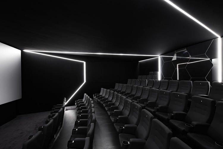 <p>The &quot;black box&quot; is one of two additional screening rooms. This represents the technical aspects of movie-making.</p>