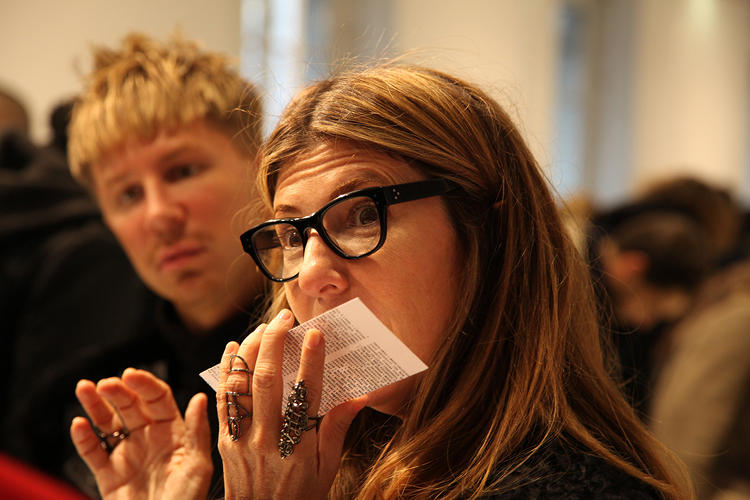 <p>Even Marie Claire/Project Runway's Nina Garcia got in on the sniffy action.</p>