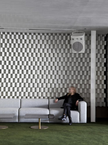 <p>Various sound-proof nooks offer a reprieve from the party.</p>