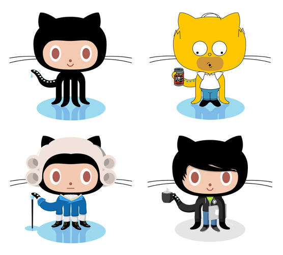 <p>Simon Oxley licenses his illustrations to companies like GitHub, whose users have spun off hundreds of variants on his original cat-octopus logo.</p>
