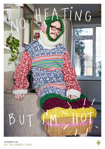 "<p>Photographer Dean Chalkley's aim was to get people turning off the heating and pulling on a jumper instead.</p>  <p>""I find it so strange when people turn up the heating rather [than] putting another layer like a jumper. Jumpers are better than heating--they can make you really nice and hot. I've got one on now actually and I'm really toasty."" <strong><a href=&quot;http://dothegreenthing.tumblr.com/post/45900884814/deanchalkey&quot; target=&quot;_blank&quot;>Read more.</a></strong></p>"