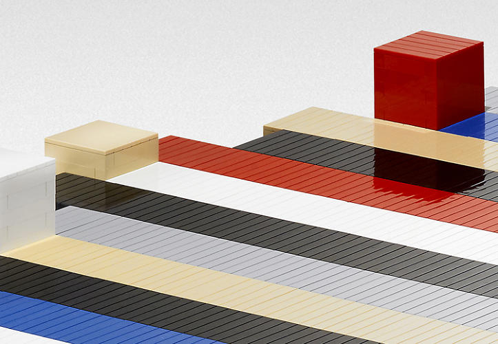 <p>The original was inspired by a bar graph, so there's a certain creative alignment to having a version made entirely of the perfect right angles of small squares and rectangles.</p>