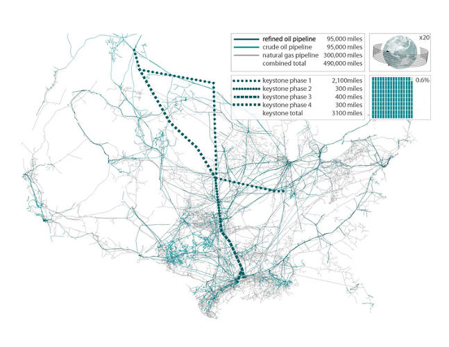 <p>Another map shows how many pipelines already exist in the U.S.--and how the trail could be implemented elsewhere.</p>