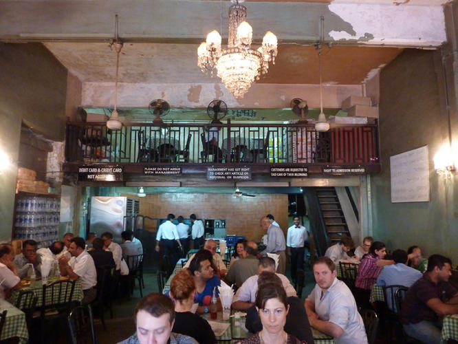 <p>The lively interior scene at Cafe Brittania.</p>