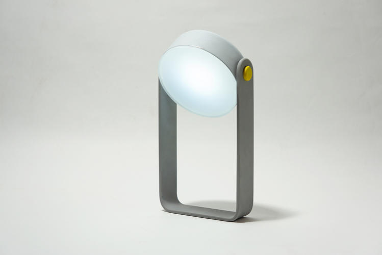 <p>It lets the light stand up like a miniature desk lamp.</p>