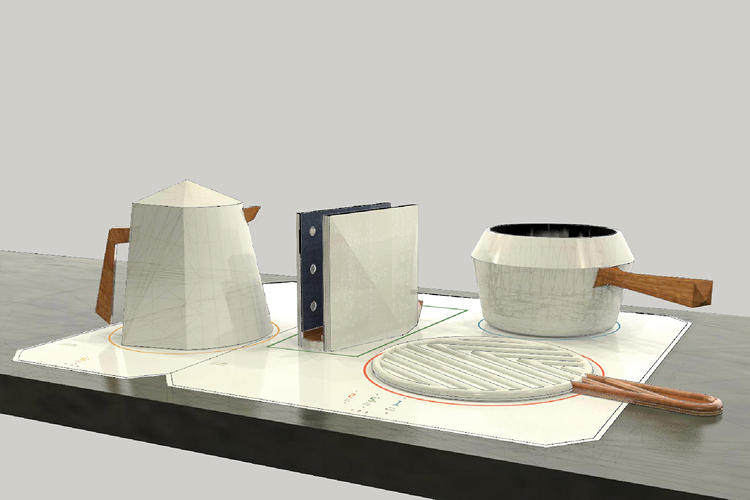 <p>That means that any of the objects can go from the stove to the table directly.</p>