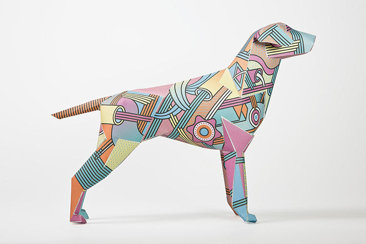 <p>Meet Gerald. He's a paper dog and loyal mascot to U.K.-based design practice Lazerian.</p>