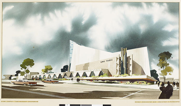 <p>Sinai Temple; perspective view, 1959</p>