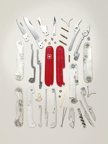<p>Older, reliable tools have relatively few parts. This Swiss Army Knife, for instance, has 38.</p>