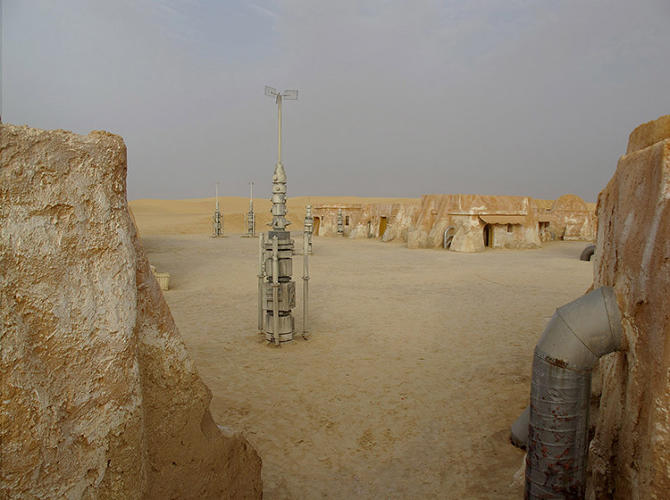 <p>The sets were abandoned after filming wrapped. Located near Tozeur in central Tunisia, near Algeria, the alien structures are virtually unknown by locals, and some can only be found with coordinates.</p>