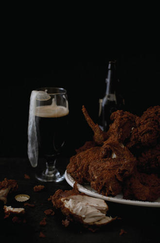 <p>On Busta's list&quot; 24 pieces of fried chicken, Guiness, and Rough Rider condoms.</p>