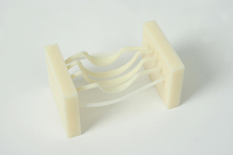 <p>A 3-D printed test of the whisk's yolk-catcher.</p>