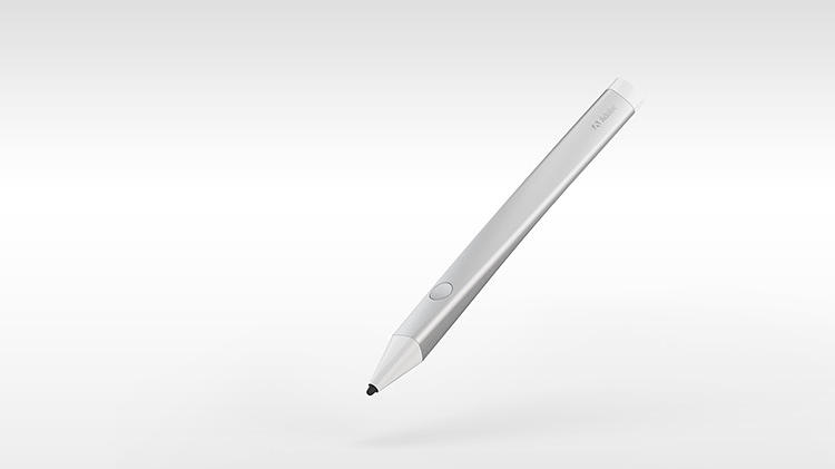 <p>The pen has a pressure-sensitive tip, a button to reveal onscreen menus and a glowing tip to convey modal information (designating if you're drawing with any particular settings), and that's it.</p>