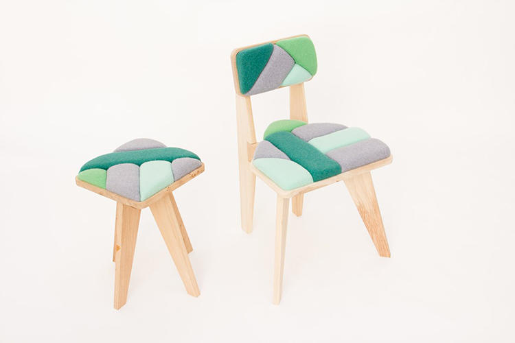 <p>She used the original, still-functioning mills in a three-fold process to make the furniture.</p>