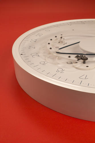 <p>Instead, it measures time in 5-minute chunks, with 12 ticks separating each of the 24 hour marks.</p>